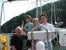 Siobhan, Lawry and two young crew members